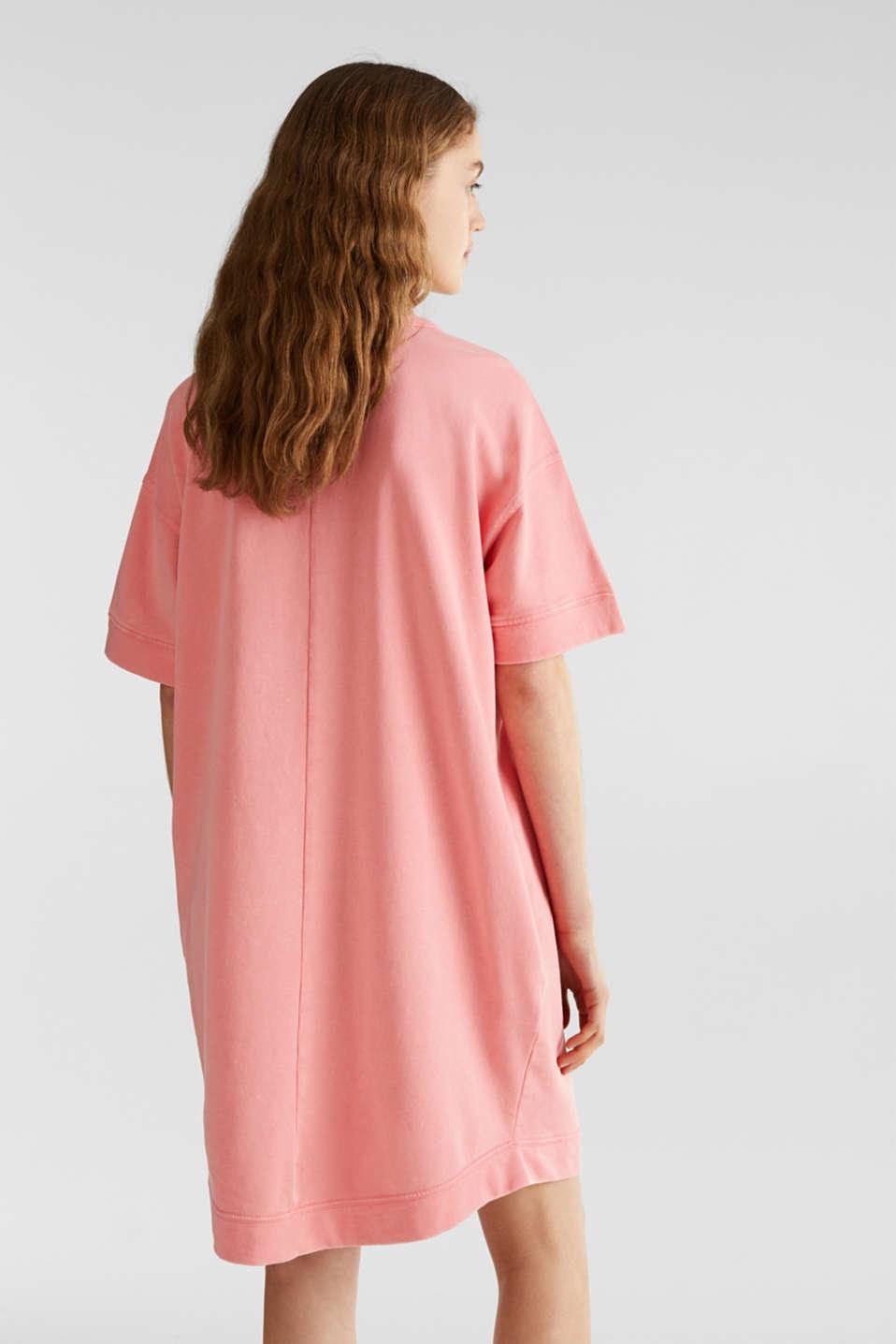 100% cotton sweatshirt dress, CORAL, detail image number 2