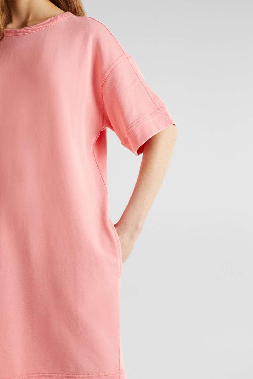 100% cotton sweatshirt dress, CORAL, detail image number 3