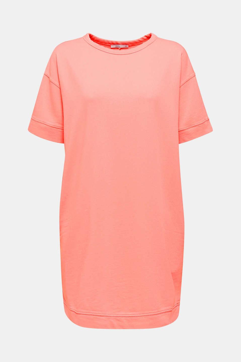 100% cotton sweatshirt dress, CORAL, detail image number 6