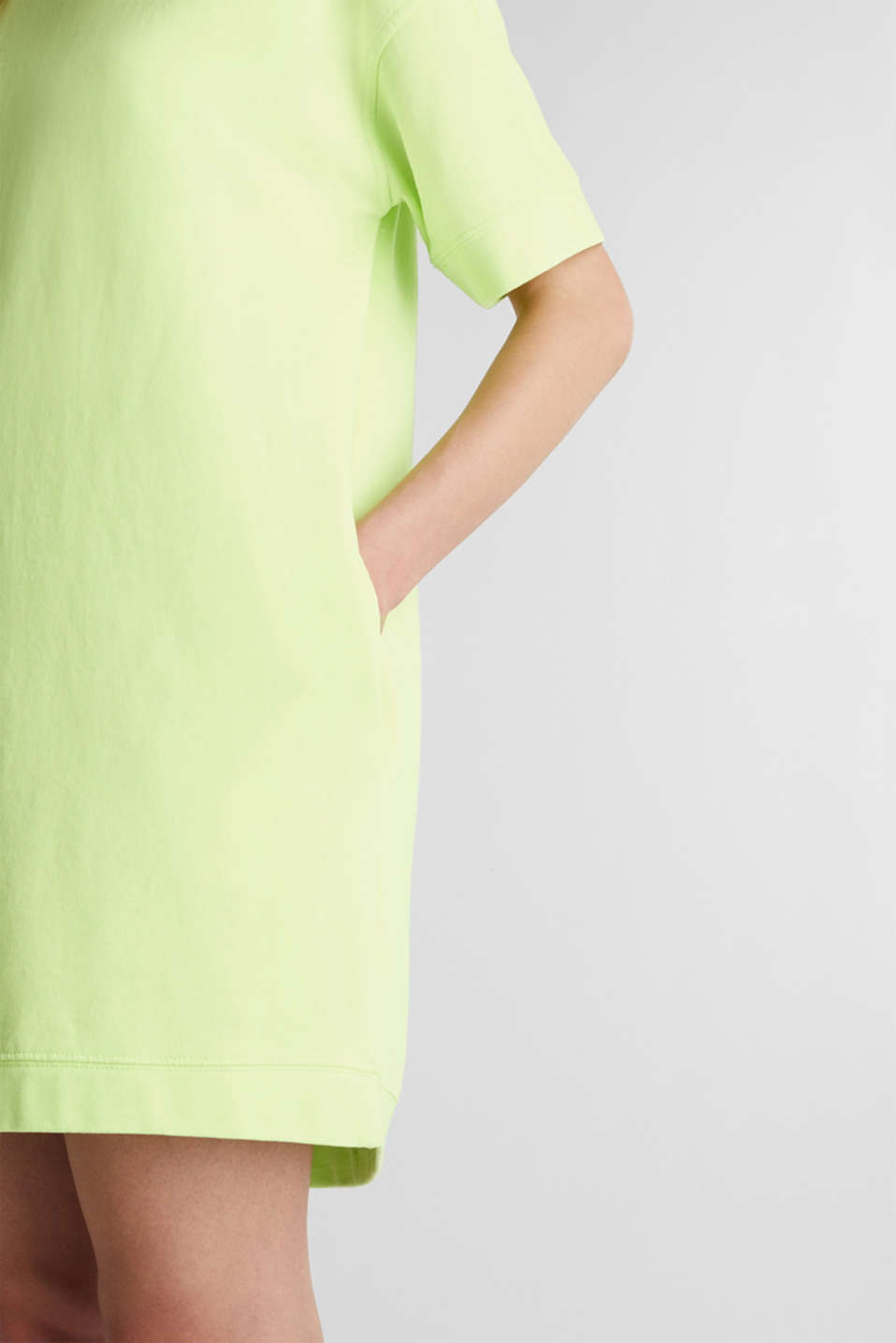 Dresses knitted, LIME YELLOW, detail image number 3