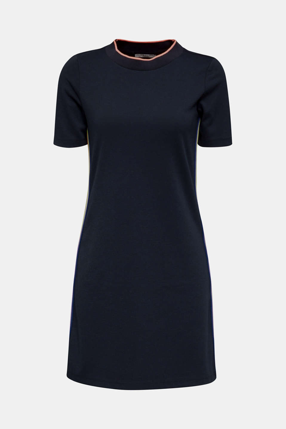 Stretch jersey dress with striped details, NAVY, detail image number 7