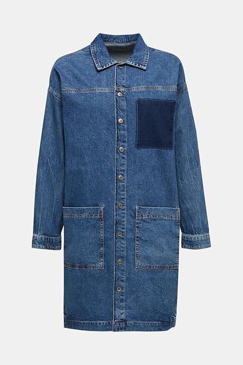 Wide denim dress, 100% cotton