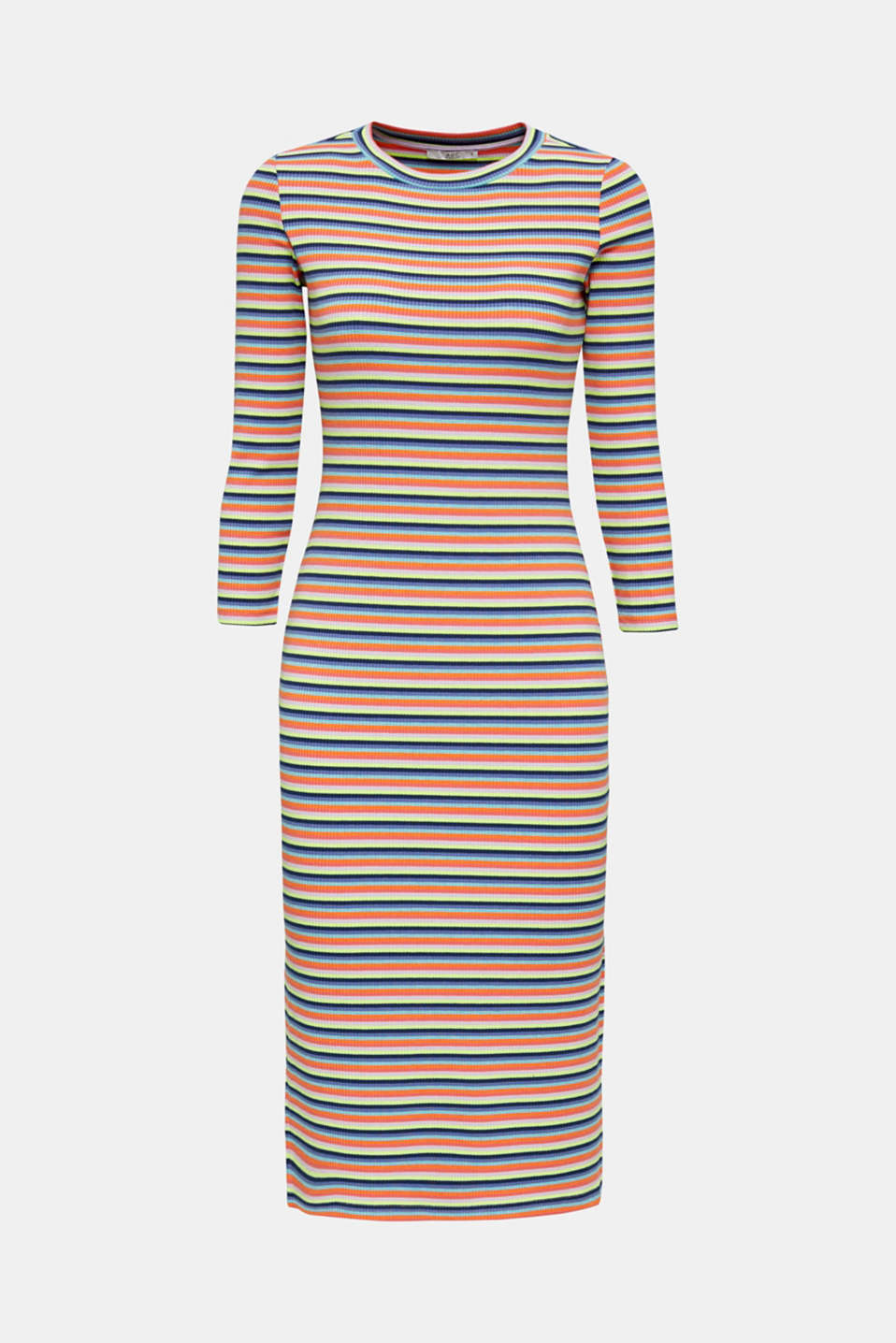 Stretch dress with multi-colour stripes, LILAC, detail image number 6