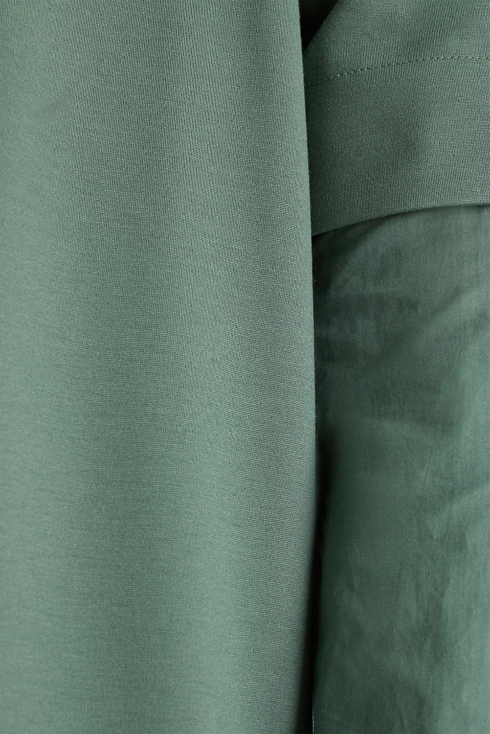 Stretch jersey dress with cloth sleeves, KHAKI GREEN, detail image number 4