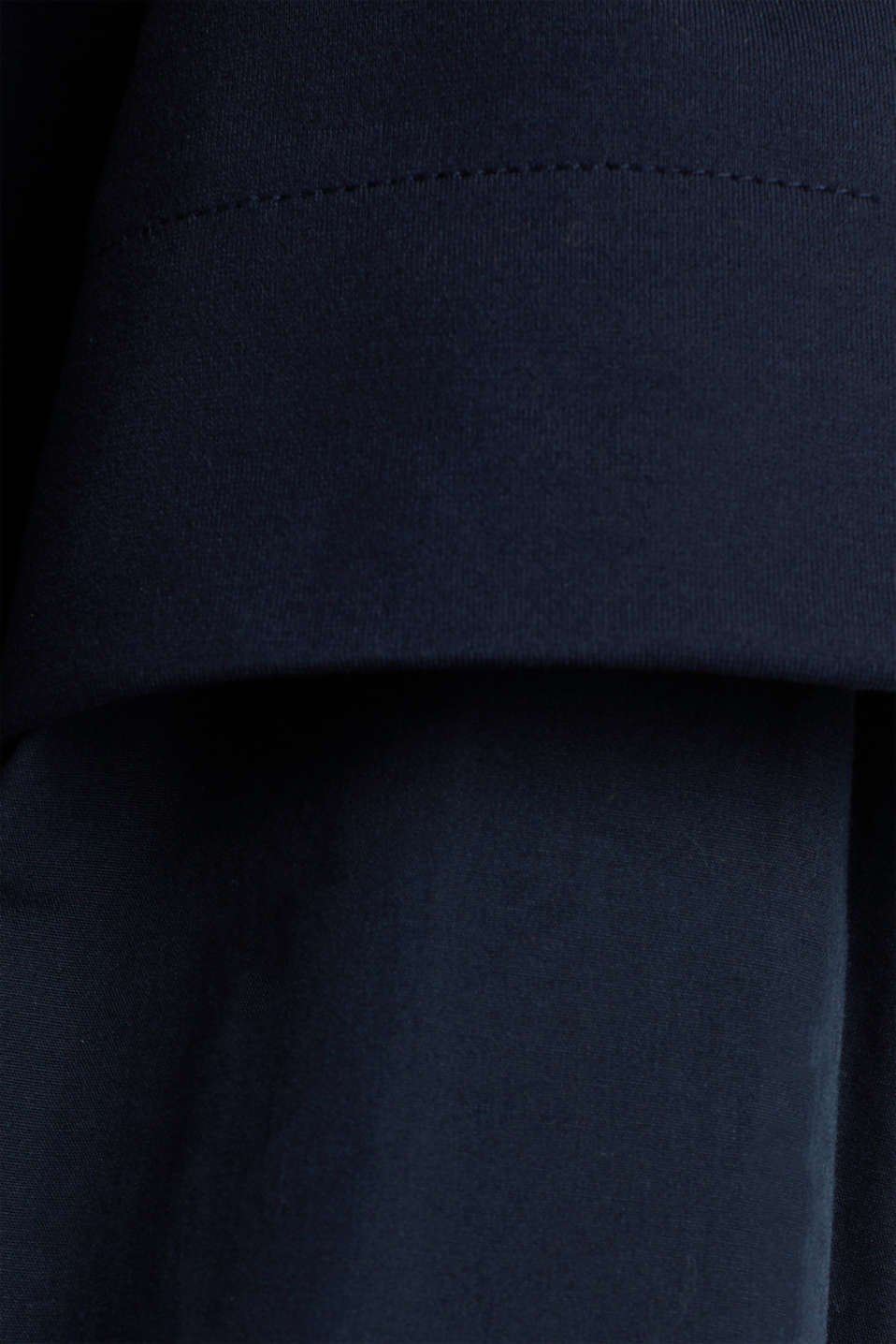 Stretch jersey dress with cloth sleeves, NAVY, detail image number 4