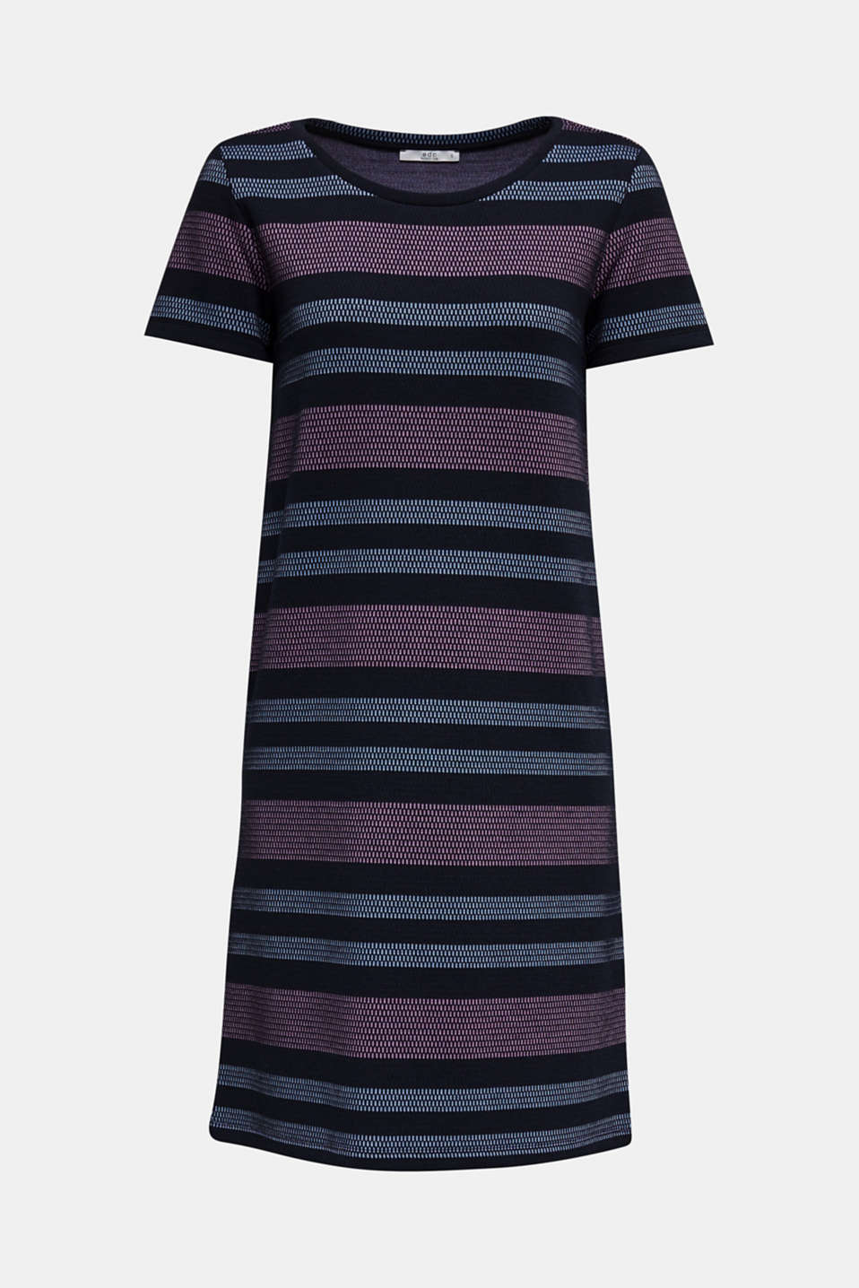 Stretch jersey dress with stripes, NAVY, detail image number 5