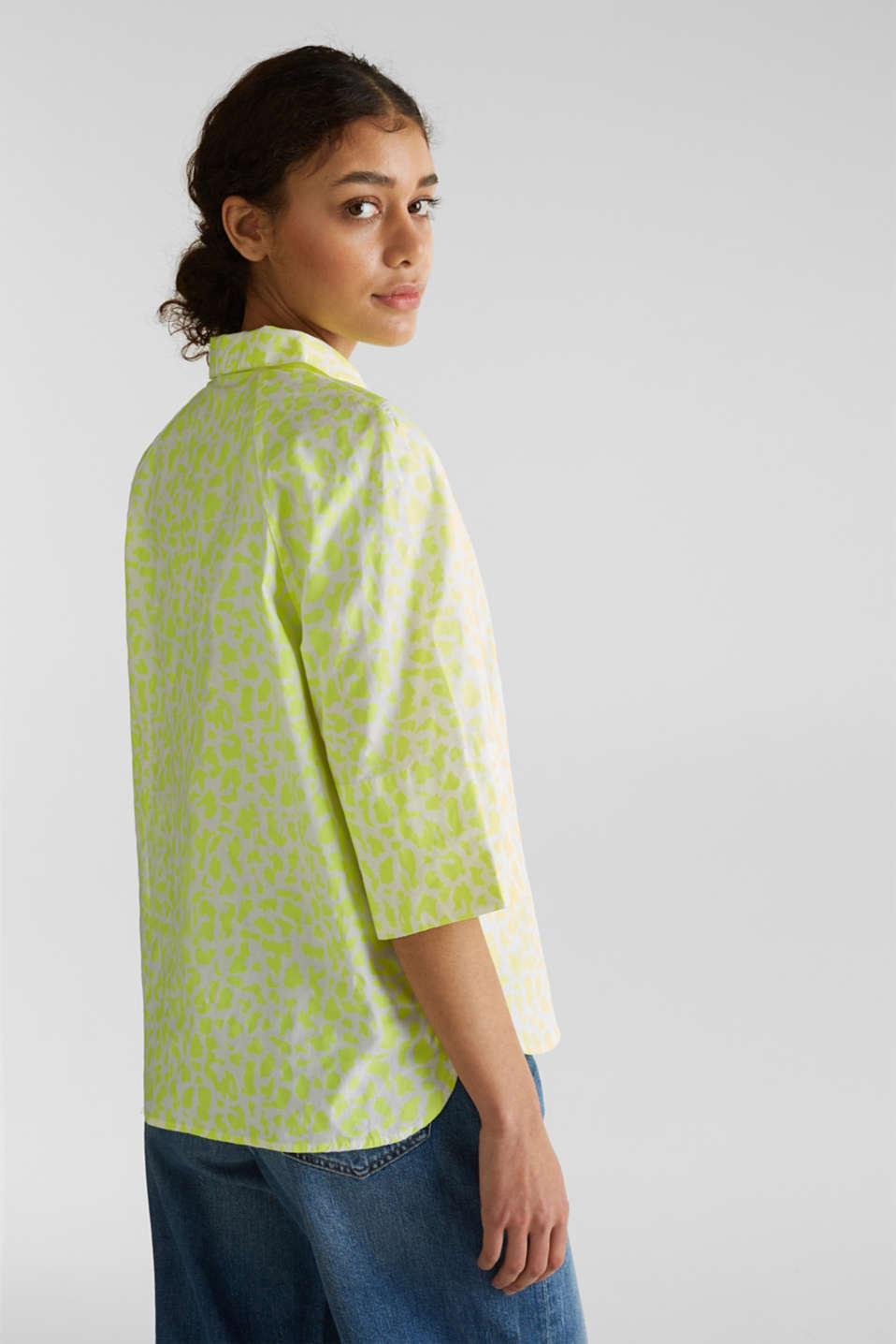 NEON modern blouse with organic cotton, WHITE 4, detail image number 3