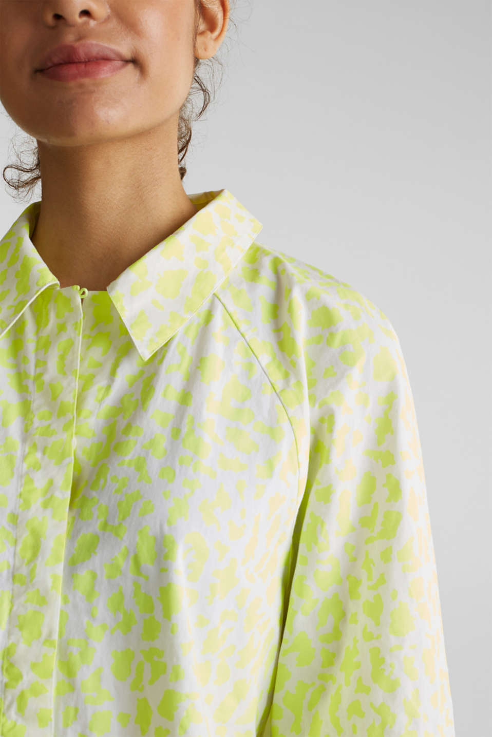 NEON modern blouse with organic cotton, WHITE 4, detail image number 2