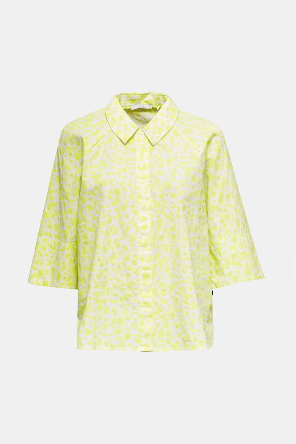 NEON modern blouse with organic cotton, WHITE 4, detail image number 7