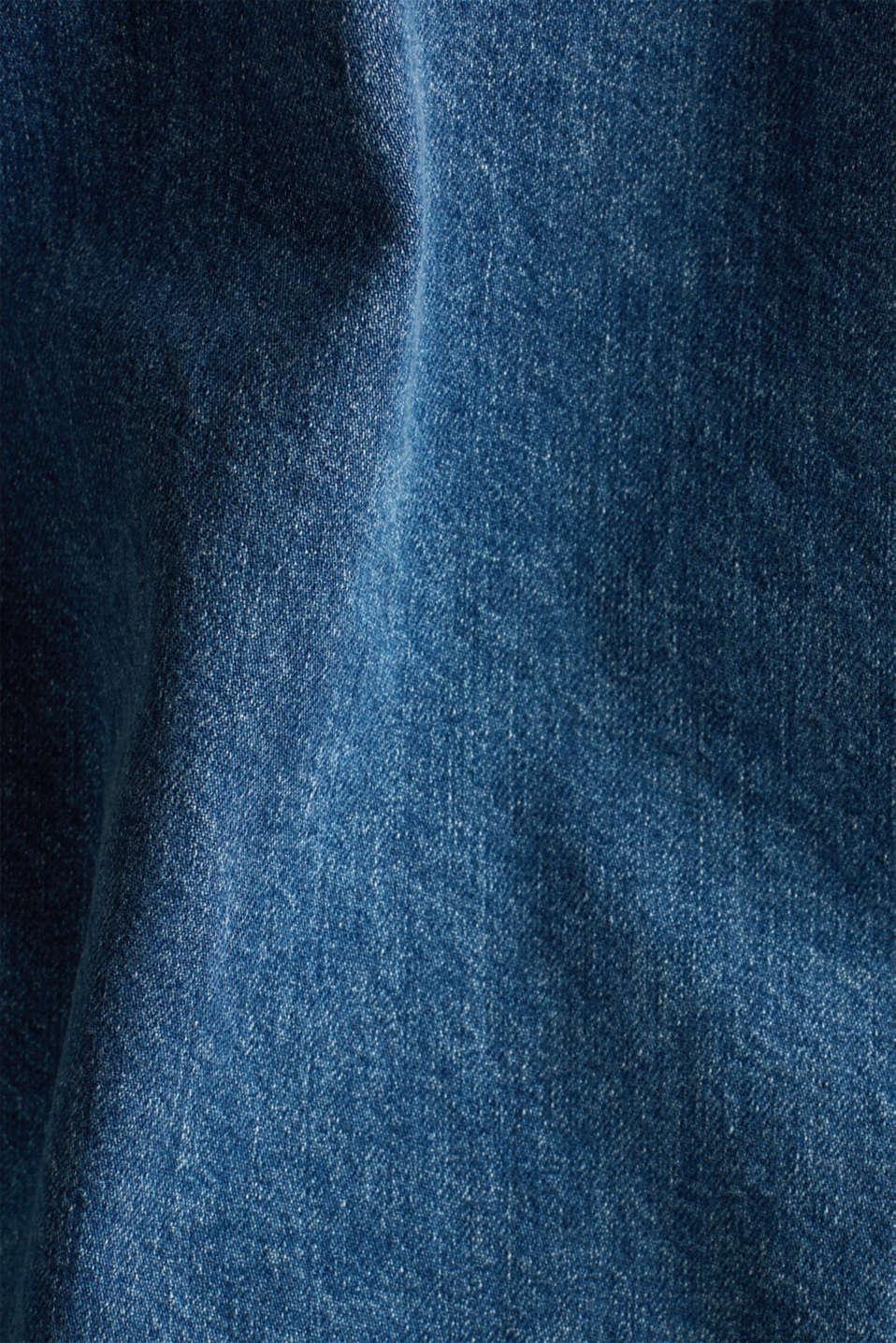 Denim shirt jacket, 100% cotton, BLUE MEDIUM WASH, detail image number 4