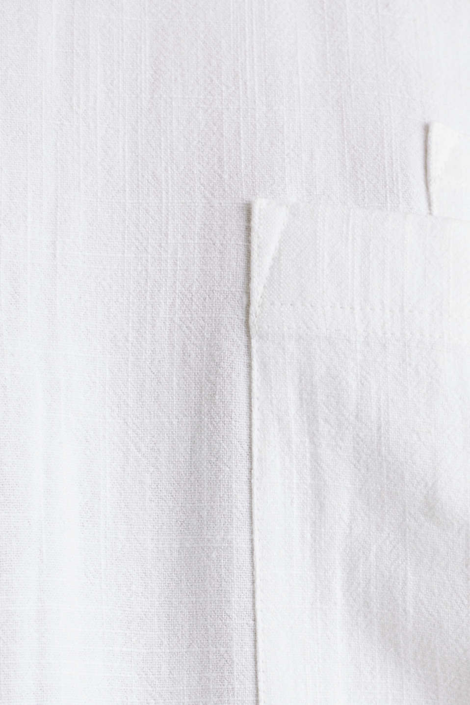Blouse top with breast pockets, WHITE, detail image number 4