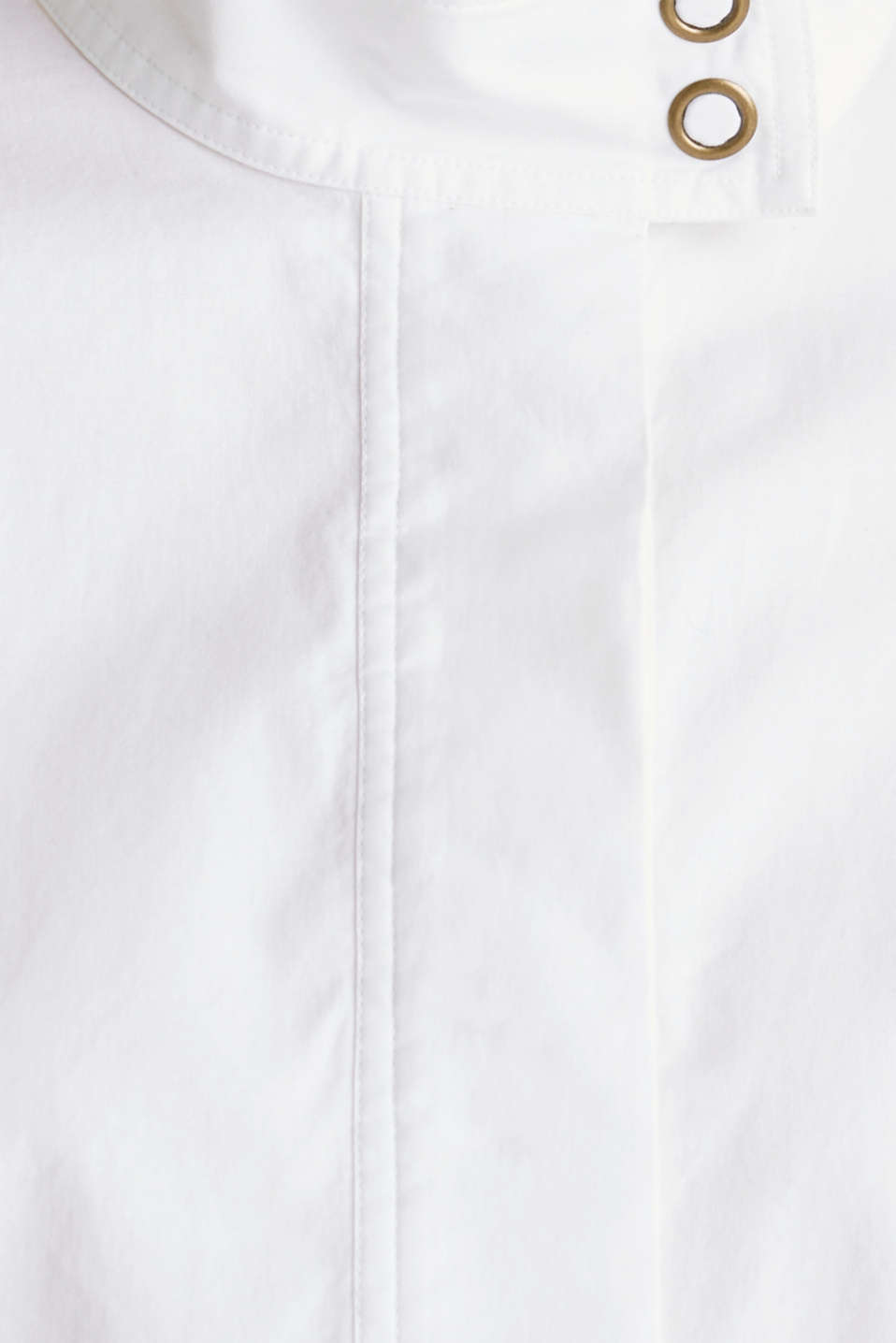 Stretch blouse with a stand-up collar, WHITE, detail image number 4