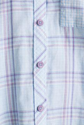 Oversized double-faced blouse, 100% cotton, BLUE LAVENDER 3, detail