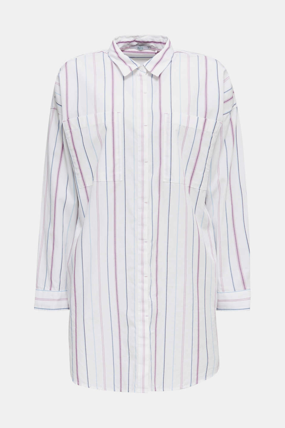 Long shirt blouse, 100% cotton, WHITE 3, detail image number 5