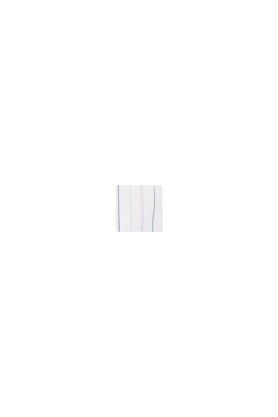 Lang skjortebluse, 100% bomuld, WHITE, swatch