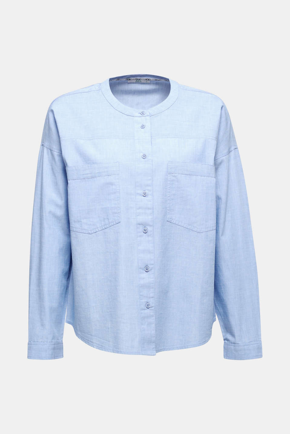 Oversized chambray blouse, 100% cotton, BLUE LAVENDER, detail image number 5