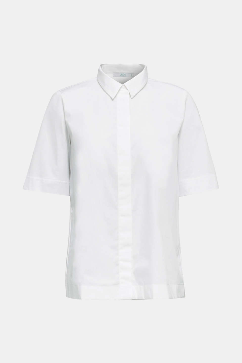 Fabric blend top, 100% organic cotton, WHITE, detail image number 5