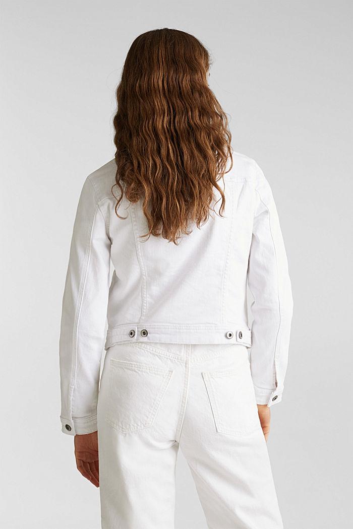 Stretch denim jacket, WHITE, detail image number 3