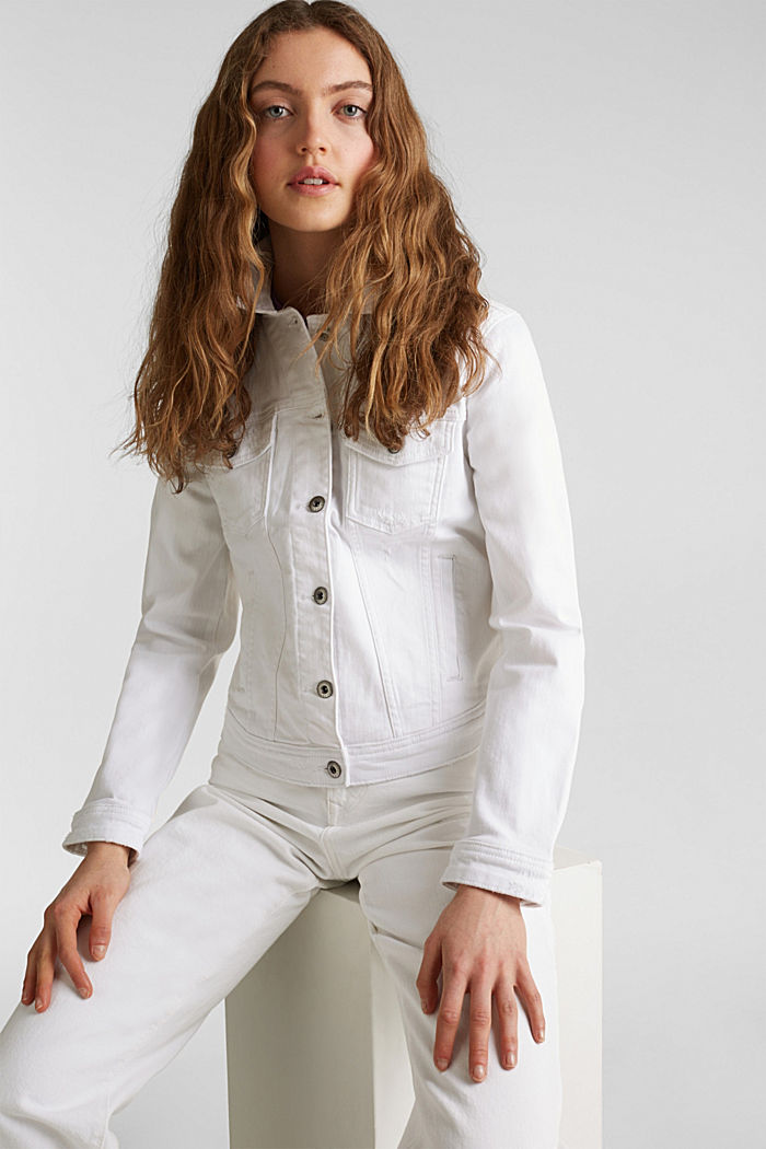 Stretch-Jeans-Jacke, WHITE, detail image number 5