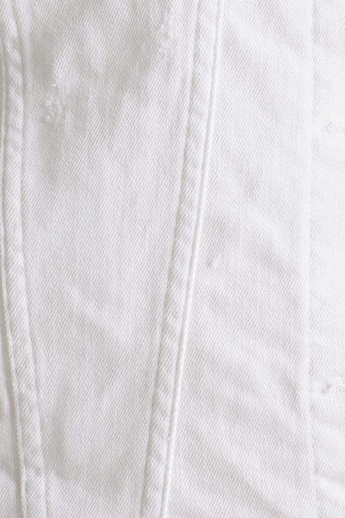 Stretch denim jacket, WHITE, detail image number 4