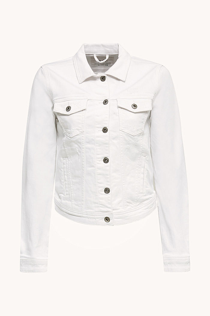Stretch-Jeans-Jacke, WHITE, detail image number 6