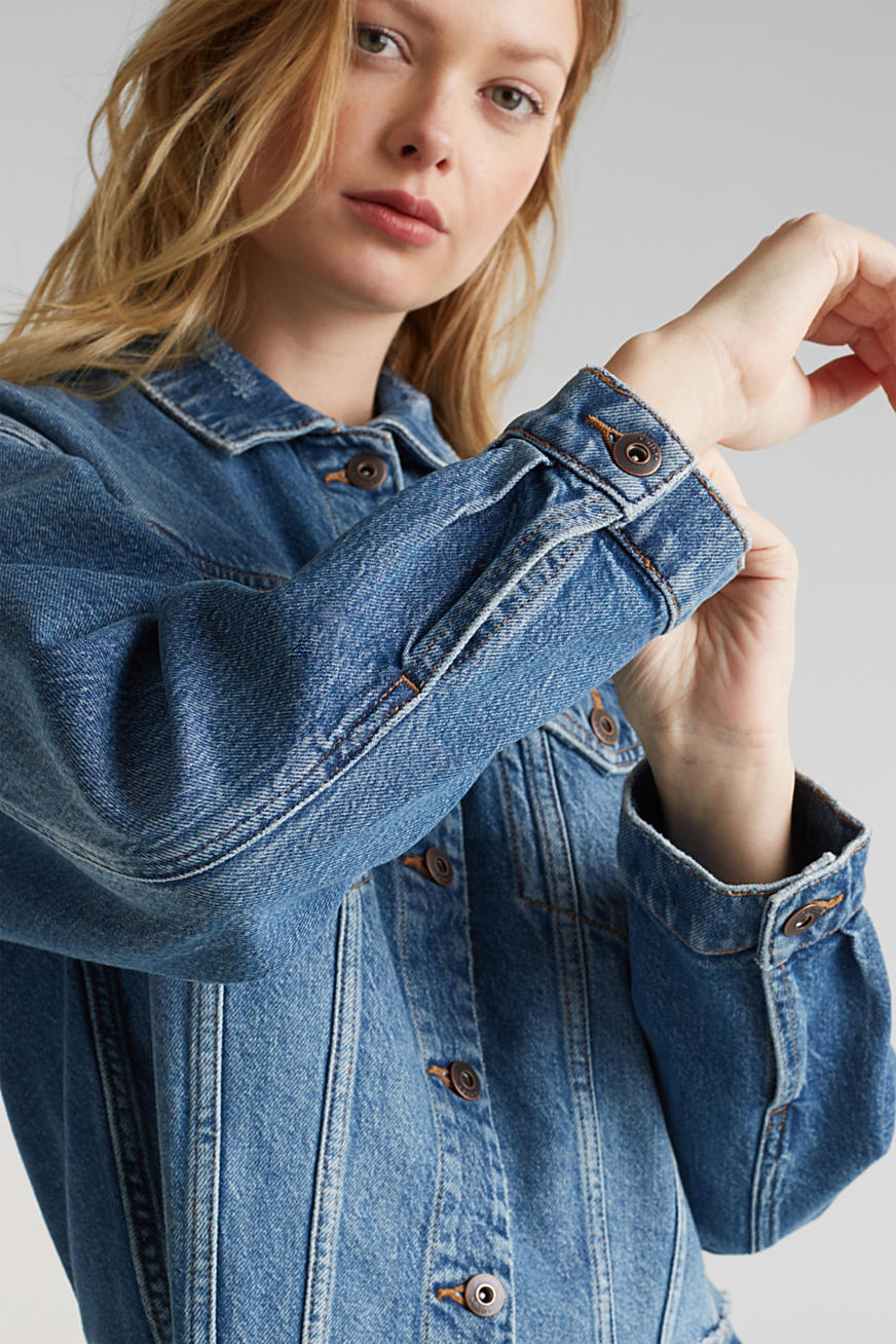 Denim jack met een moderne used look
