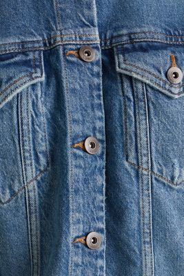 Denim jacket with a modern vintage finish, BLUE MEDIUM WASH, detail