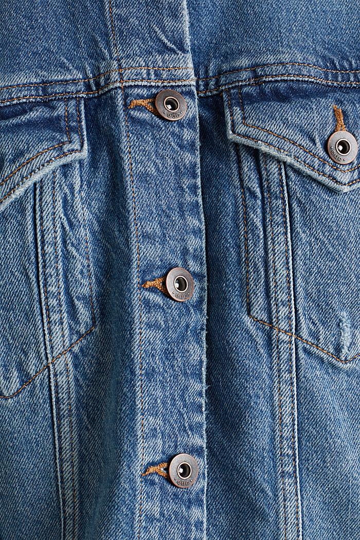 Denim jacket with a modern vintage finish, BLUE MEDIUM WASHED, detail image number 4