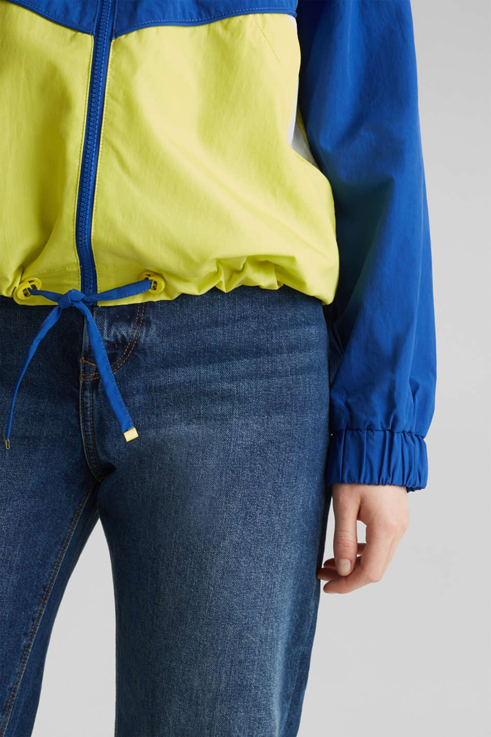 Colour block windbreaker with variable collar, BRIGHT BLUE, detail image number 2