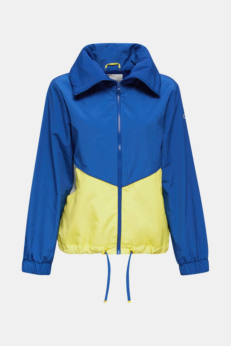 Colour block windbreaker with variable collar, BRIGHT BLUE, detail image number 6