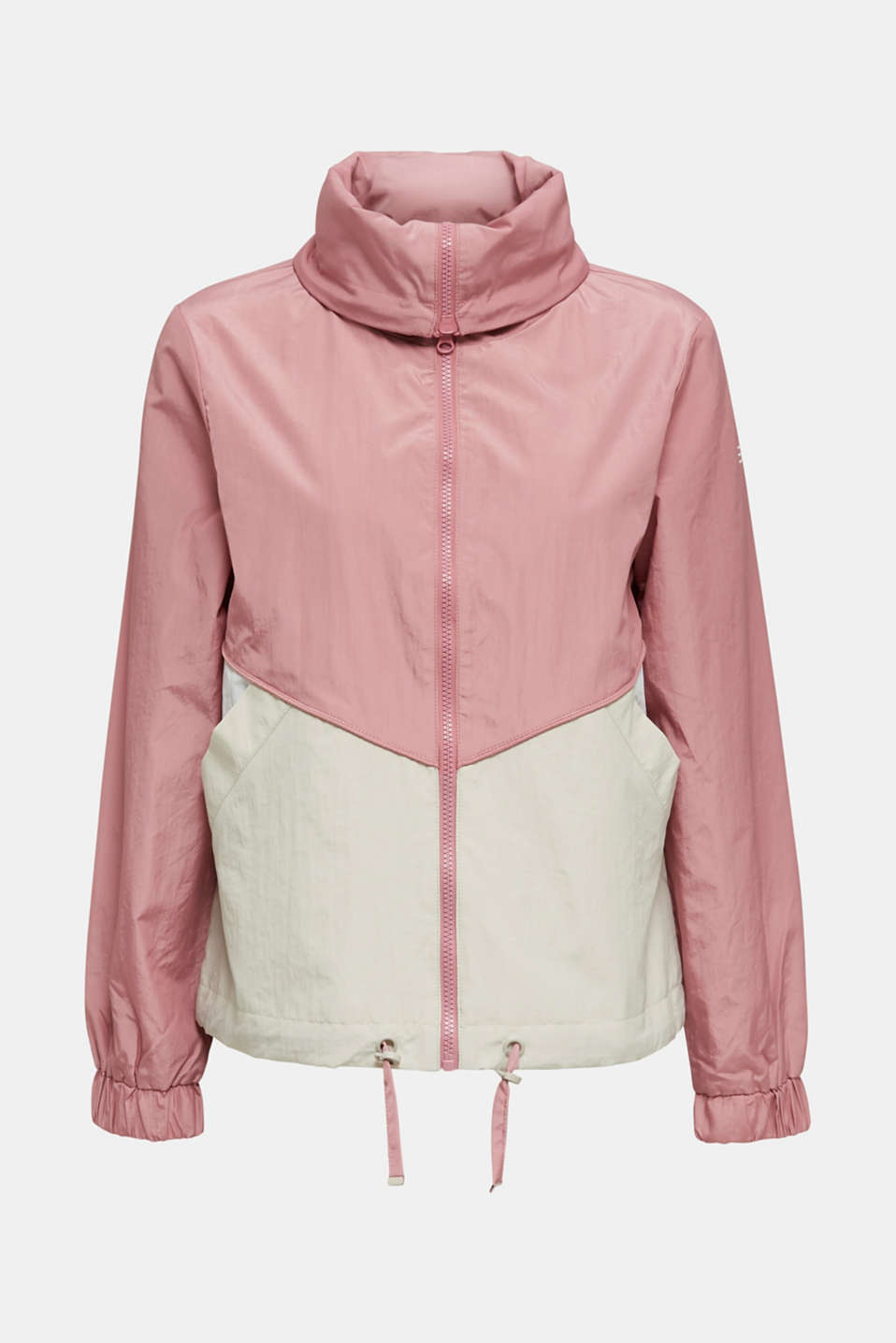 Colour block windbreaker with variable collar, BLUSH, detail image number 9