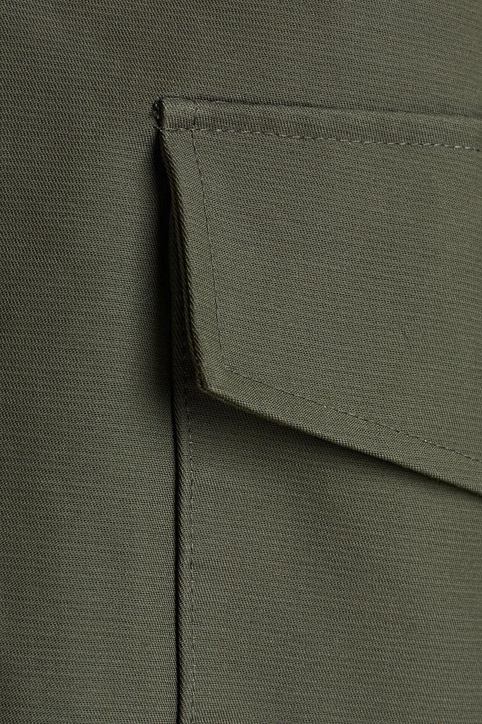 NEON Coated katoenen parka met mesh voering, KHAKI GREEN, detail image number 4