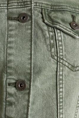 Acid wash jacket, KHAKI GREEN, detail