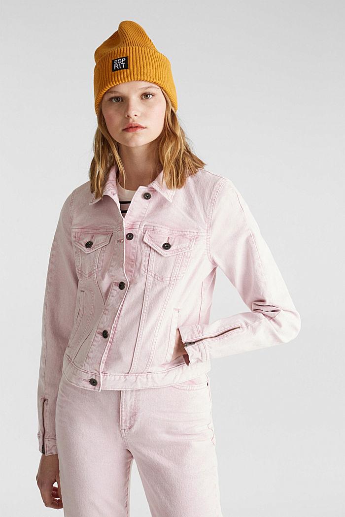 Acid wash jacket, BLUSH, detail image number 0