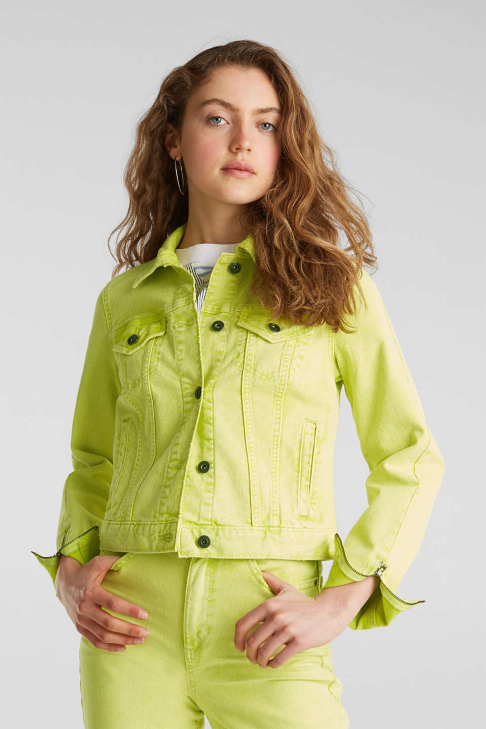 Jackets indoor woven, LIME YELLOW, detail image number 0