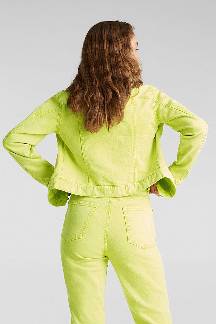 Acid wash jacket, LIME YELLOW, detail image number 2