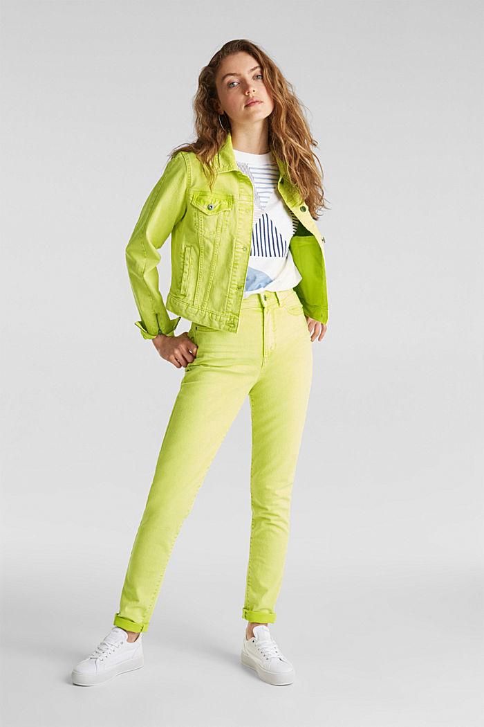 Acid wash jacket, LIME YELLOW, detail image number 0