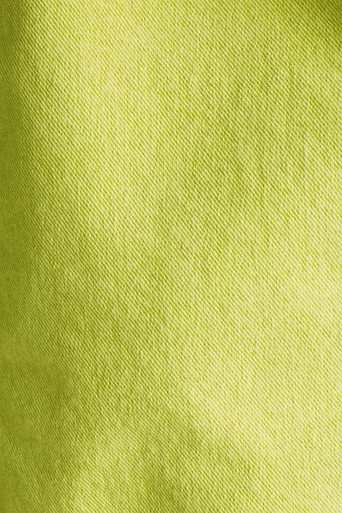 Acid wash jacket, LIME YELLOW, detail image number 3