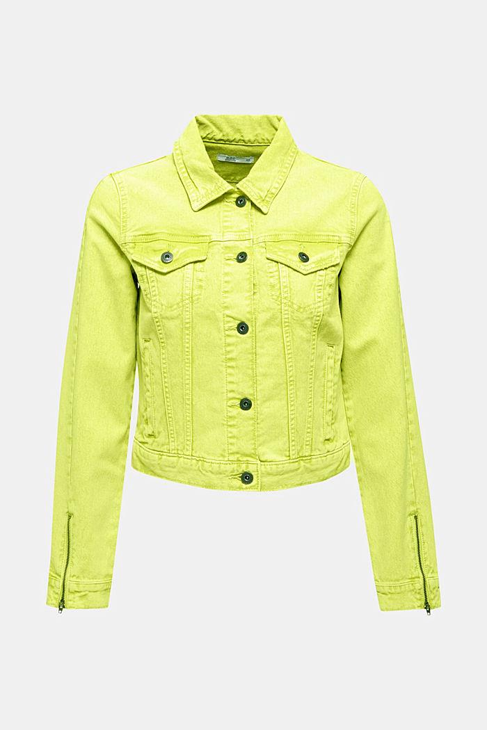 Acid wash jacket, LIME YELLOW, detail image number 5
