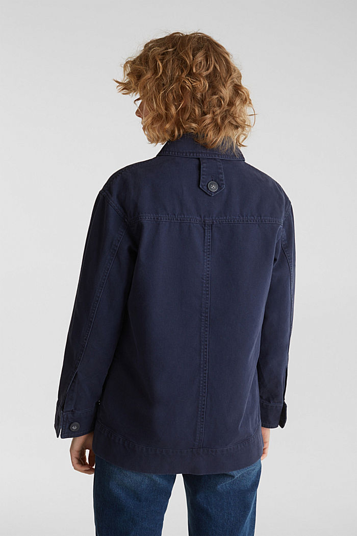 Worker jacket with pockets, 100% cotton, NAVY, detail image number 3