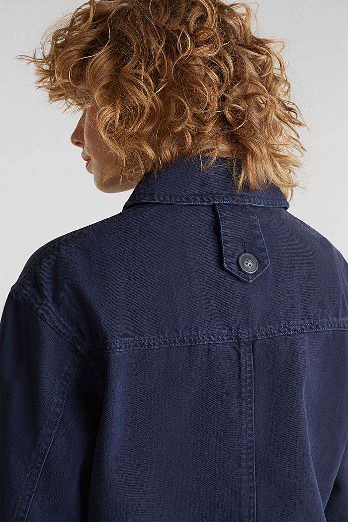 Worker jacket with pockets, 100% cotton, NAVY, detail image number 2