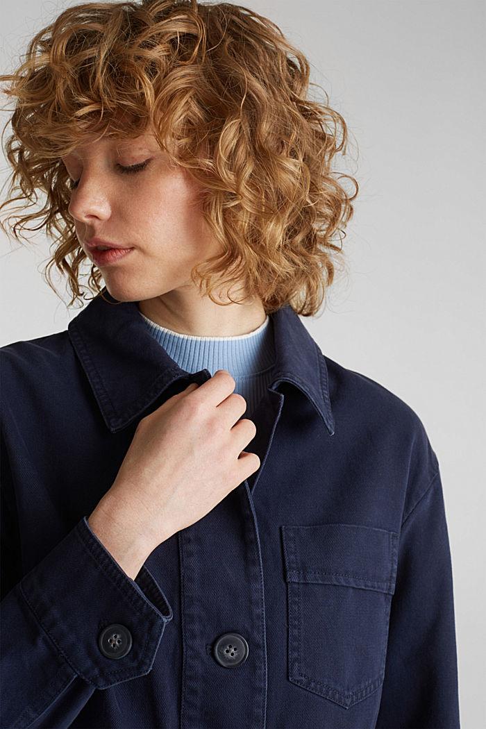 Worker-Jacke mit Taschen, 100% Baumwolle, NAVY, detail image number 6