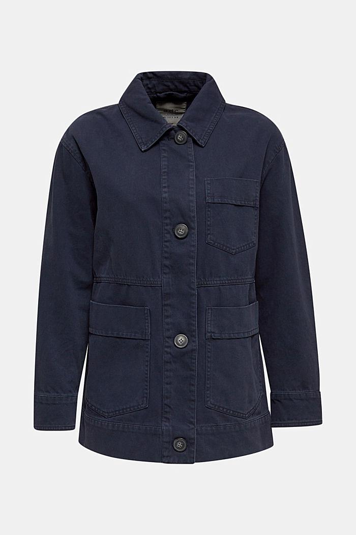 Worker-Jacke mit Taschen, 100% Baumwolle, NAVY, detail image number 7