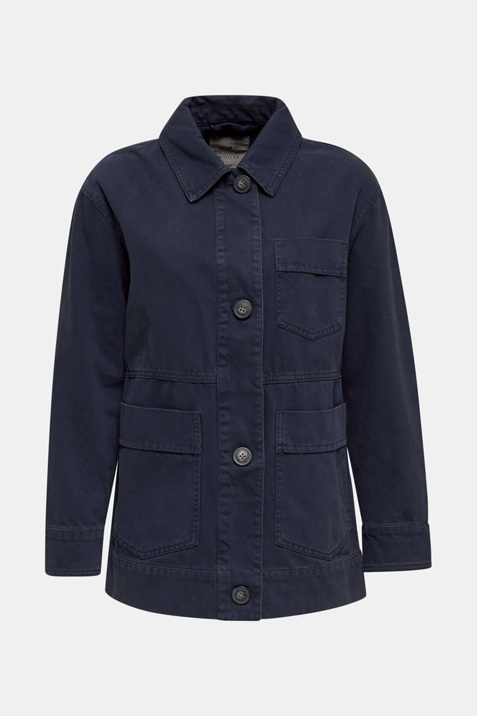 Worker jacket with pockets, 100% cotton, NAVY, detail image number 7