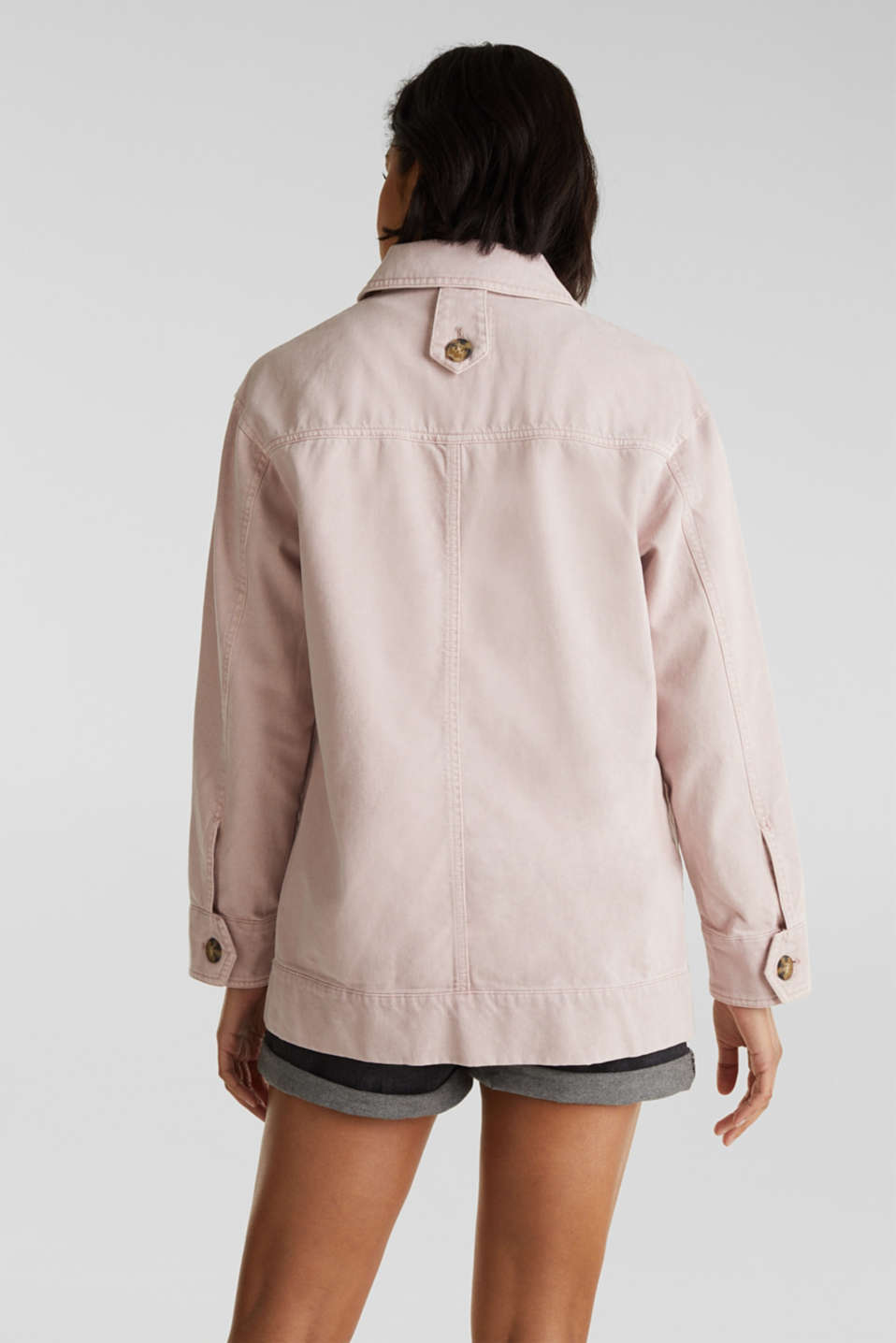Worker jacket with pockets, 100% cotton, BLUSH, detail image number 3