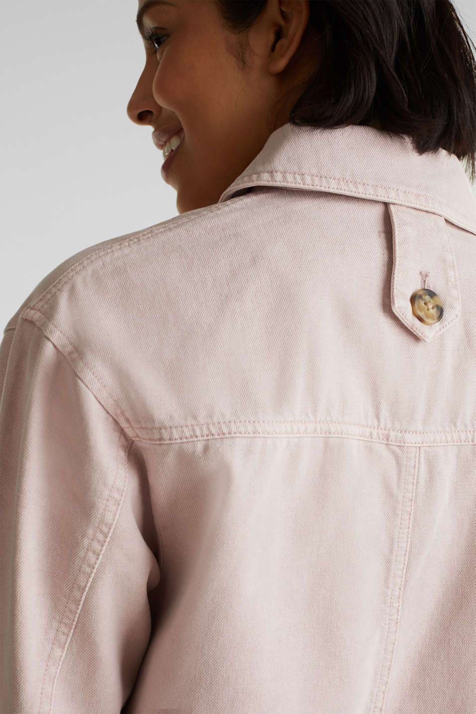 Worker jacket with pockets, 100% cotton, BLUSH, detail image number 5