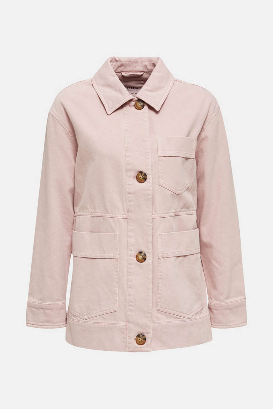 Worker jacket with pockets, 100% cotton, BLUSH, detail image number 6
