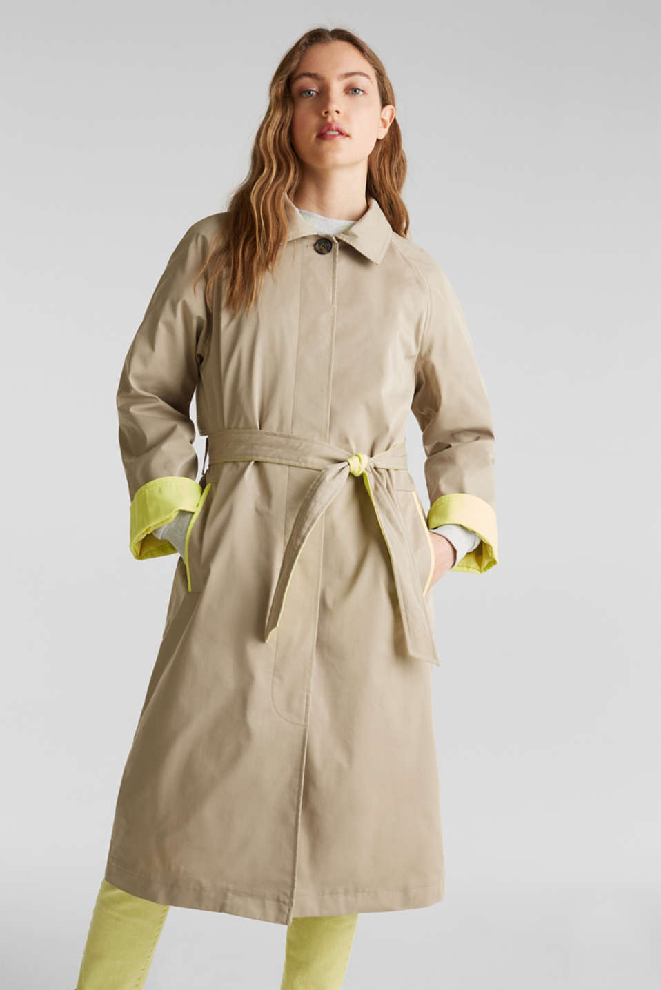 edc - Trench coat with neon details