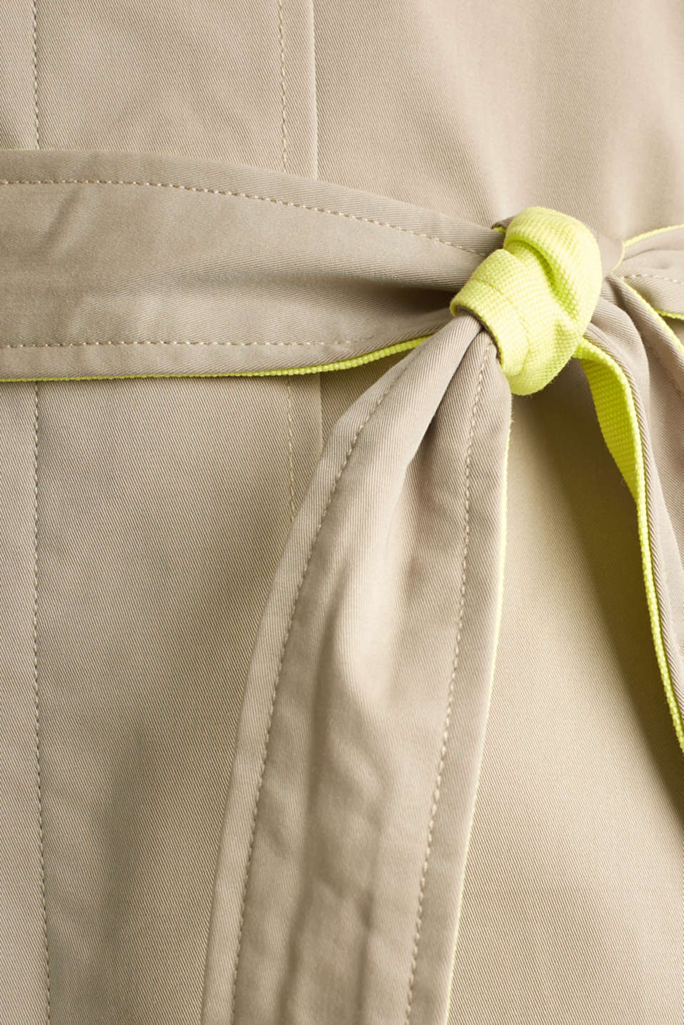 Trench coat with neon details, BEIGE, detail image number 4