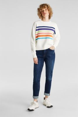 Boxy ribbed jumper, OFF WHITE 2, detail